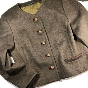 Authentic traditional boiled wool jacket.